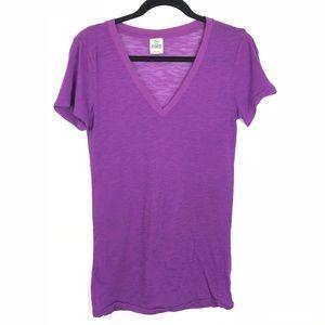 Victoria Secret PINK S/ P Purple V Neck T Shirt